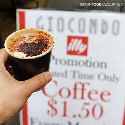 01 20140829 3879 Giocondo, Cbd Sydney Cappuccino Coffee ($1.50 Takeaway Promotion) Using Illy Coffee Beans — Pretty Good