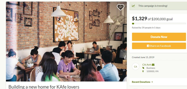 Đào Chi Anh: 'Tôi hiểu sự nhạy cảm khi gọi vốn cộng đồng cho dự án xây dựng lại The KAfe'