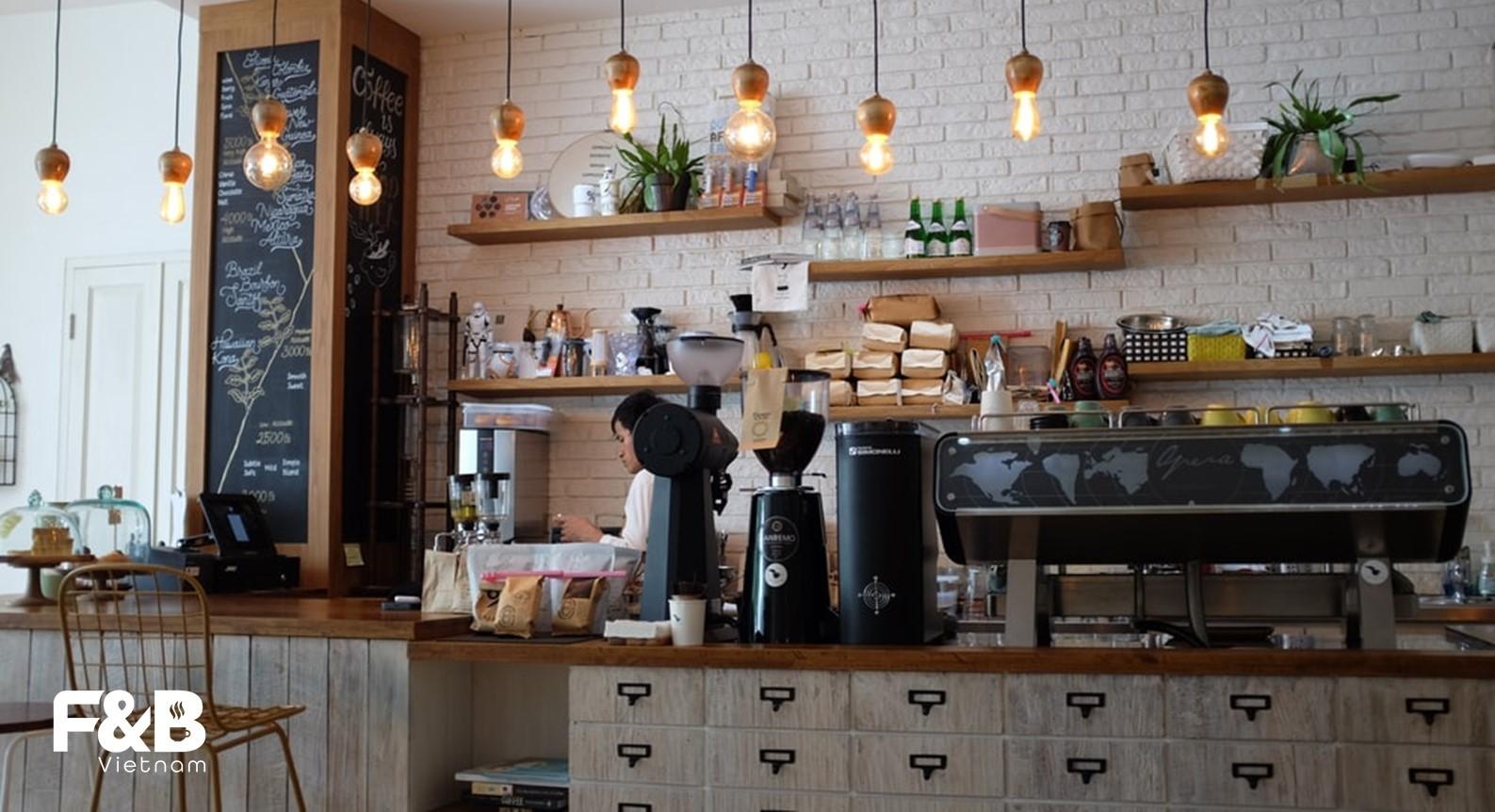 chi phí mục đích kinh doanh khi setup quán cà phê