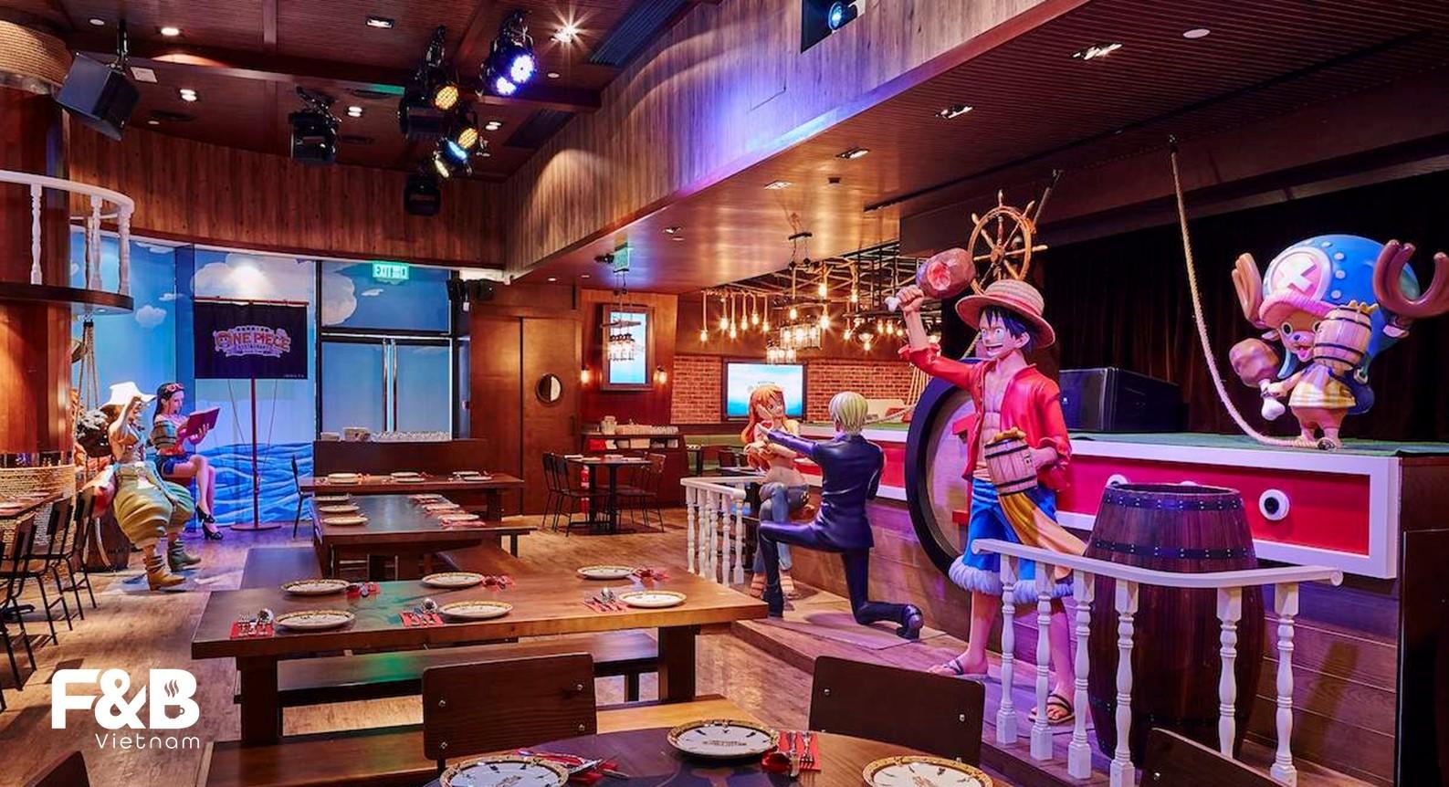 không gian nhà hàng theo phong cách one piece