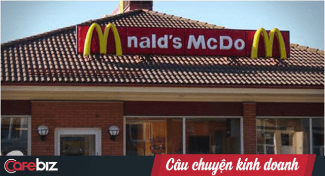 menu cua McDonald's