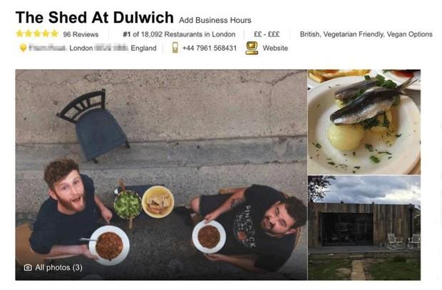Đỉnh cao của marketing quán ăn: Được đánh giá số 1 London dù nhà hàng đó... không hề có thật FnB Việt Nam