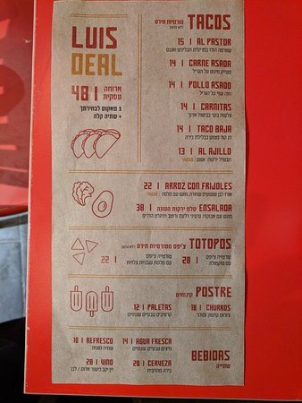 Simple Menu Very Reasonable