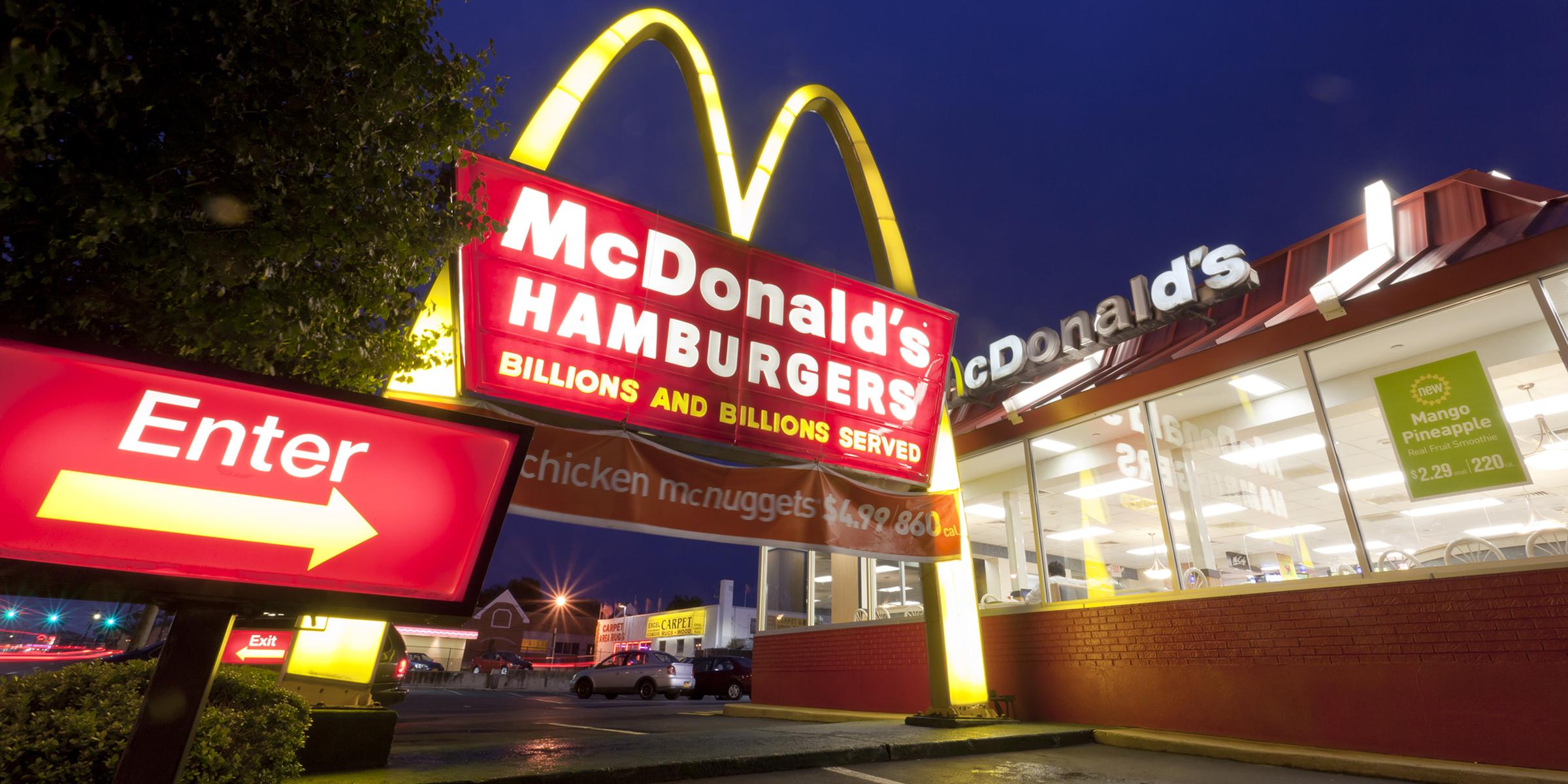 McDonald's là thương hiệu thức ăn nhanh lớn nhất thế giới