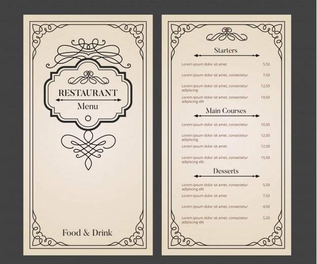 Thiết kế thực đơn nhà hàng