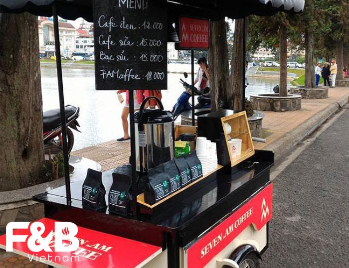 Trang trí xe cafe take away