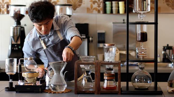 Nhân Viên Quán Cafe Rang Xay