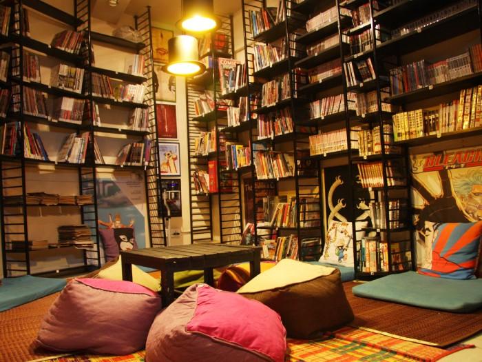 kinh nghiệm mở quán cafe sách