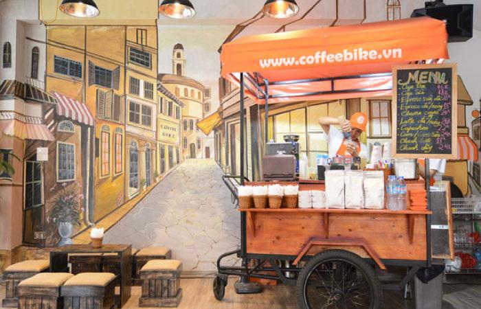 Quán Cafe Xe Đẩy Có Chỗ Ngồi