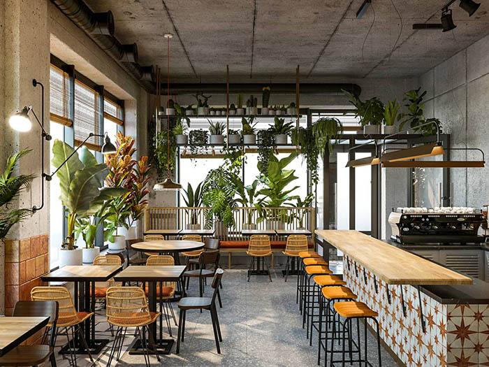 Thiết Kế Và Bố Trí Mở Quán Cafe 100 Triệu
