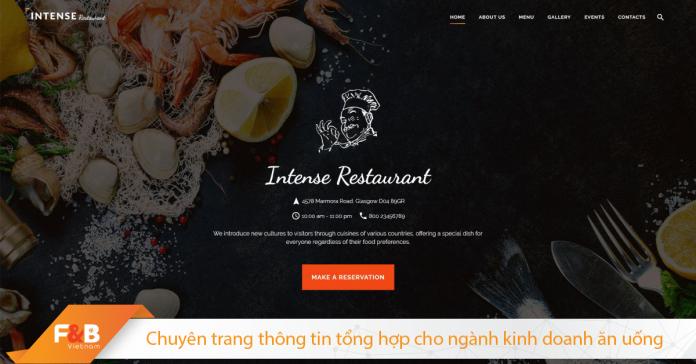 Website Nha Hang